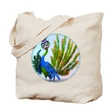 Prissy Peacock Tote Bag