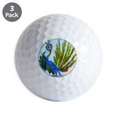 Prissy Peacock Golf Ball