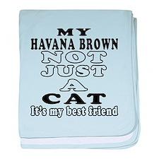 Havana Brown Cat Designs baby blanket
