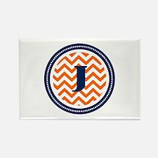 Orange & Navy Rectangle Magnet