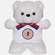 Orange & Navy Teddy Bear