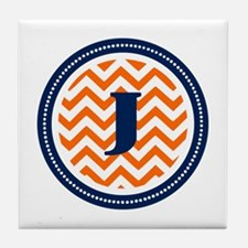 Orange & Navy Tile Coaster