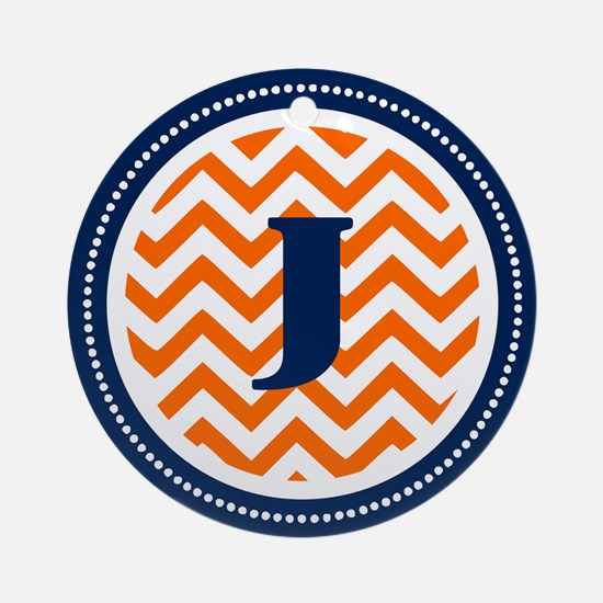 Orange & Navy Ornament (Round)