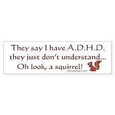 ADHD Squirrel Bumper Stickers
