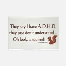 ADHD Squirrel Rectangle Magnet