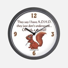 ADHD Squirrel Wall Clock