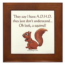 ADHD Squirrel Framed Tile