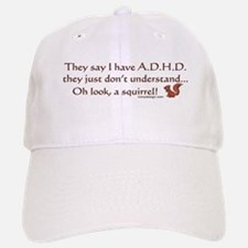 ADHD Squirrel Baseball Baseball Cap