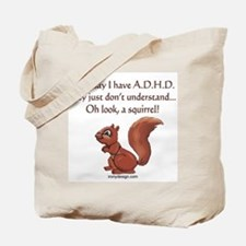 ADHD Squirrel Tote Bag