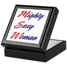 Mighty Sexy Woman Keepsake Box