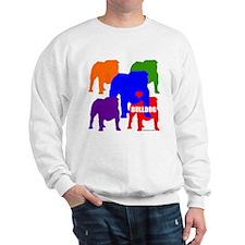 Colorful Bulldog Purple/Sweatshirt