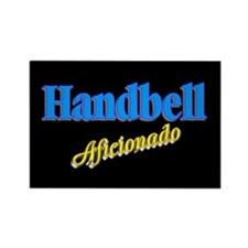 Handbell Aficionado Black Rectangle Magnet (10 pac