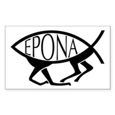 Epona Fish Rectangle Decal