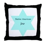 Native American Jewish Pride Throw Pillow