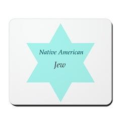 Native American Jewish Pride Mousepad