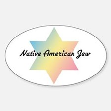 The Native American Jew Oval Decal