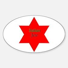 Italian Jew Oval Decal