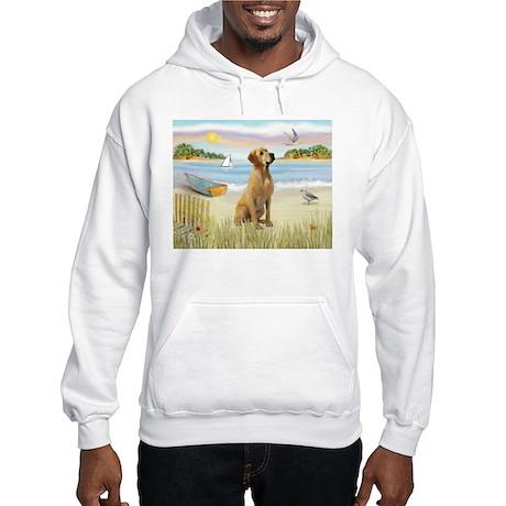 Rowboat & Yellow Lab Hooded Sweatshirt