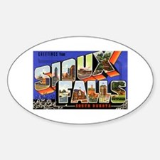 Sioux Falls South Dakota Greetings Oval Decal