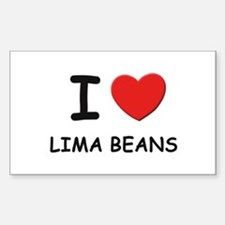 I love lima beans Rectangle Decal