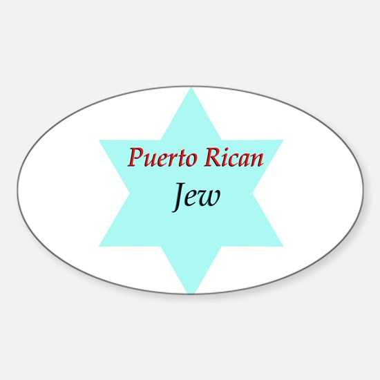 Puerto Rican Jew Oval Decal