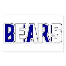 BEARS-2 TONE BLUE/WHITE Rectangle Decal