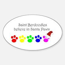 Saint Berdoodles Believe Oval Decal
