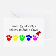 Saint Berdoodles Believe Greeting Cards (Package o