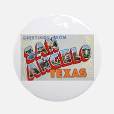 San Angelo Texas Greetings Ornament (Round)