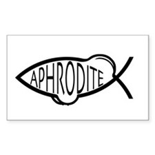 Aphrodite Fish Rectangle Decal