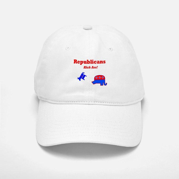 Republicans Kick Ass Baseball Baseball Cap