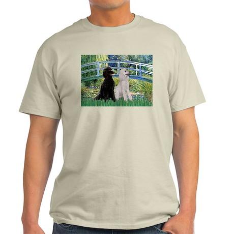 Bridge & 2 Standard Poodles Light T-Shirt