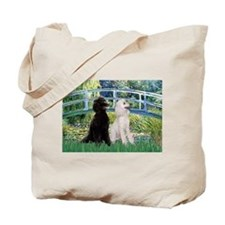 Bridge & 2 Standard Poodles Tote Bag