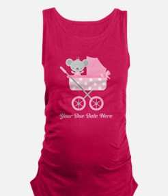 Personalized Due Date Baby Girl Maternity Tank Top