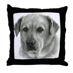 Lindsay - Yellow Lab Mix Throw Pillow
