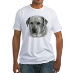 Lindsay - Yellow Lab Mix Fitted T-Shirt