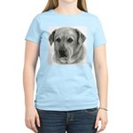 Lindsay - Yellow Lab Mix Women's Pink T-Shirt
