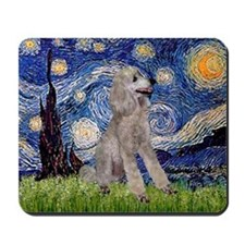 Starry/Poodle (ST-Silv) Mousepad