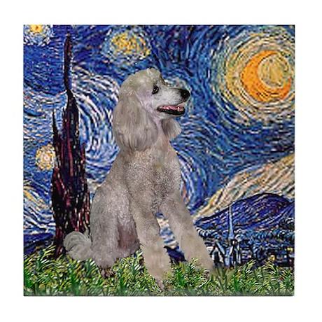 Starry/Poodle (ST-Silv) Tile Coaster