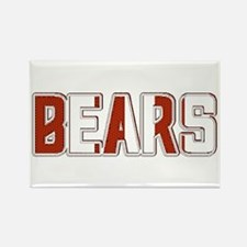 BEARS-2 TONE RED/WHITE Rectangle Magnet