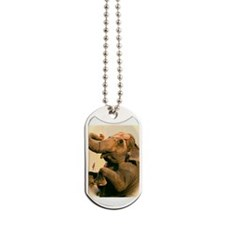 elephant one color Dog Tags