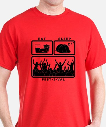 Eat Sleep Festival (black) T-Shirt