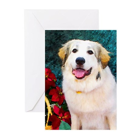 Great Pyrenees Christmas Greeting Cards (Package o