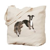 Dogs italian greyhounds Regular Canvas Tote Bag