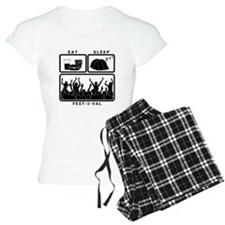 Eat Sleep Festival (black) pajamas