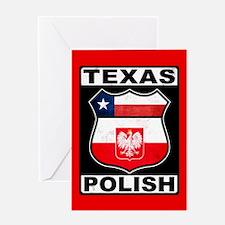 Texas Polish American Greeting Card