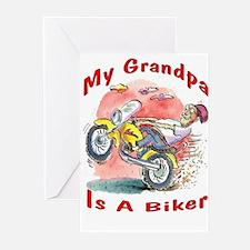 Grandpa Biker Greeting Cards (Pk of 10)