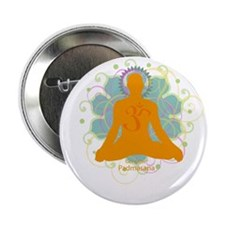 "Get it Om. Male, Yoga Lotus P 2.25"" Button (10 pac"