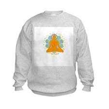 Get it Om. Male, Yoga Lotus P Sweatshirt