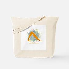 Get it Om. Downward Dog, Yoga Tote Bag